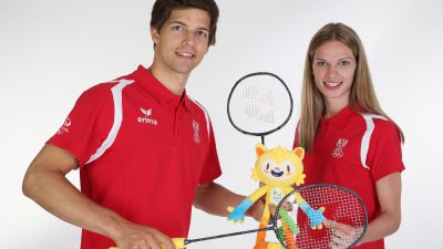 VIENNA,AUSTRIA,17.JUL.16 - OLYMPICS - OEOC, official equipping for the Olympic Summer Games 2016 in Rio. Image shows David Obernosterer and Elisabeth Baldauf (AUT). Photo: GEPA pictures/ Harald Steiner