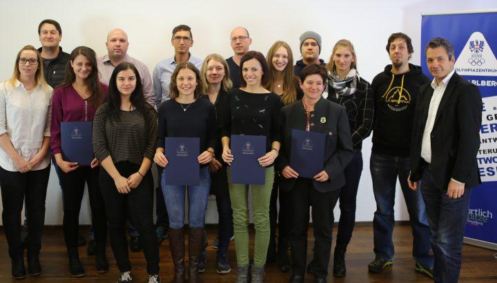 20 neue Übungsleiter in Vorarlberg 01