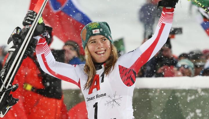 Slalom in Flachau: Erstes Podium für Katharina Liensberger 01